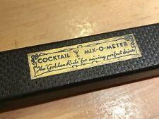 1933 Vintage Mix-o-Meter! Rare & Classic! Bar Ware/Mixology Orig Box/Condition