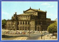Dresden  -  Theaterplatz mit Semperoper und Parkplatz  -  1987