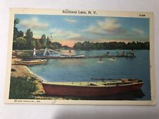 New listing Rockland Lake New York NY Boats Swimming Dock Scene Vintage Postcard