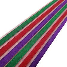 Net BaseMulticolor Fabric Trim Stripe Style Border Lace Sewing Craft 1 Yard