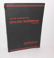 Aus der Sammlung auf Schloss Schönbrunn Schlesien Auktion Versteigerung 1930 !