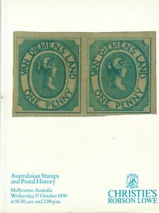 Australasian Stamps and Postal History (Christie's Robson Lowe Auction Oct 1990)
