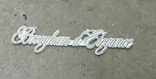 "1977-1992 Cadillac Fleetwood ""Brougham d'Elegance"" Emblem Ornament WHITE OEM"