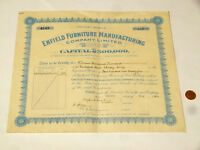 1943 Enfield Furniture Share Certificate for William Townsend #S33 *