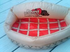 VINTAGE TOY TONKA pound puppies DOG 1986 INFLATABLE BED STUFFED ANIMAL vtg 80s