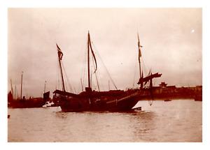 Asie, bateau à voiles Vintage print,   Tirage citrate  8x11