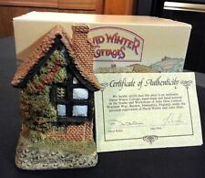 """David Winter Cottages Spinners Cottage 1984 4 1/2"""" tall 2 1/2"""" wide 2"""" deep"""