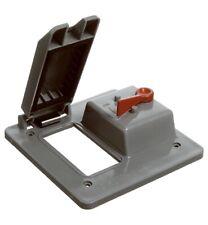 Carlon E9G2GTNR GFCI & Toggle Switch Box Cover, PVC, 2-Gang - Quantity 1