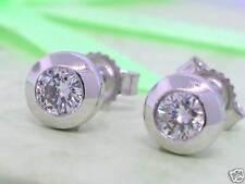 Diamant Brillant Ohrstecker 585 Weißgold 14Kt Gold 0,40ct Solitär Wesselton