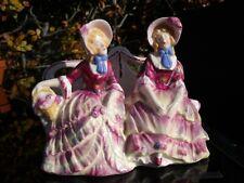 German Alfred Voigt Sitzendorf Figure of Two Crinoline Ladies sat on a Bench.