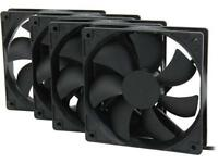 Rosewill 120mm Long Life Sleeve Cases Black Cooling Fan For Computer Kit 4 Pack