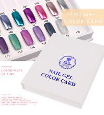 120 Couleurs Boîte d'Affichage Graphique Nail Outil d'Ongles