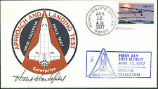 "Henry ""Hank"" Hartsfield - SIGNED Cover - First ALT Free Flight 1977 (O43)"