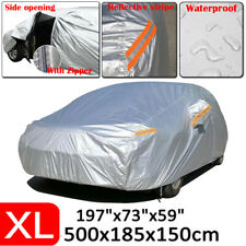 XL 190T Full Car Cover Waterproof Outdoor Dust Scratch Rain Protection For Sedan
