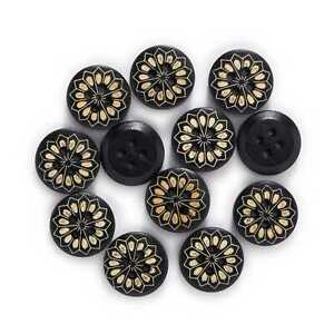 30pcs Round Wood Buttons for Sewing Scrapbooking Clothing Crafts Handmade 15mm