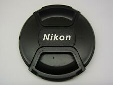 82mm Front Lens Cap Center Pinch Snap on for Nikon Camera Plastic OEM