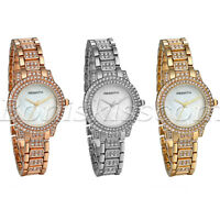 Women Luxury Artificial Shell Rhinestone Dial Stainless Steel Quartz Wrist Watch