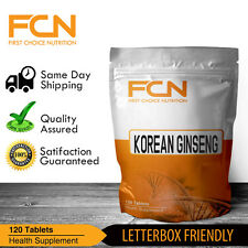 Korean Ginseng 4000mg -- 120 Tablets -- Fatigue | Energy | Memory | Enhancement