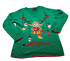 new directions womens Ugly christmas holiday Reindeer Knit sweater sz xl 734