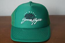 Vintage Sea World Summer Nights Green Mesh Snapback Trucker Hat
