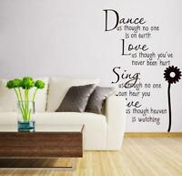 Removable Art Vinyl Quote DIY Wall Sticker Decal Mural Room Decor Home Beauty
