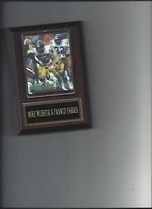 MIKE WEBSTER & FRANCO HARRIS PLAQUE PITTSBURGH STEELERS FOOTBALL NFL
