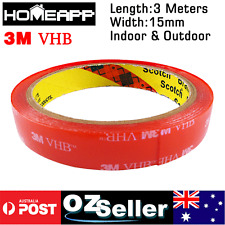 3M VHB 15mmX3m Double-sided Clear Transparent Acrylic Adhesive Tape