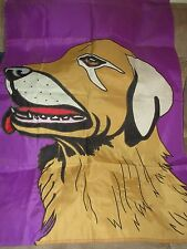 "Decorative Garden Flag Golden Retriever Dog - Size 39"" x 28"" Two Sided"