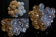 Christmas LED Light, 2x Ball shape Gold and Silver Color for Holiday Decoration