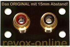 Abstandserweiterung Cinchbuchsen mit Montagematerial Revox A76 das Original!