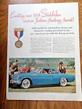 1953 Studebaker V-8 Regal Starlight Coupe Ad  at the Polo Game Theme