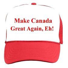 Make CANADA Great Again Eh HAT Funny Political Adjustable Cap Trump