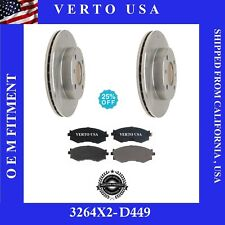Front Brake Rotors & Pads For Nissan Stanza , Nissan Axxess 1990-1991-1992