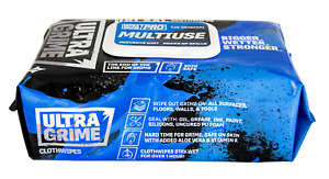 UltraGrime PRO XXL+ Multi-Use Industrial Wipes Pack of 100 Destroys Dirt Strong