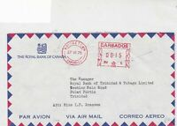 barbados 1975  air mail stamps cover ref 20527