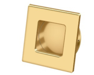 "Deltana Solid Brass Square HD Flush Pull 2-3/4"" x 2-3/4"" - 12 Finishes"