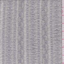 Pearl Grey Ribbon Stripe Stretch Lace, Fabric By The Yard