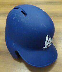 LA DODGERS Team Issued 11/1/2019 MLB Rawlings MATTE BLUE BATTING HELMET Sz 7 5/8