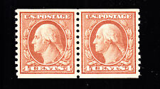 Us 457 4c Washington Mint Pair Xf Og Nh Scv $140