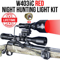 Wicked Lights W403iC RED Night Hunting Light Kit for Coyotes, Hogs, Foxes W2013