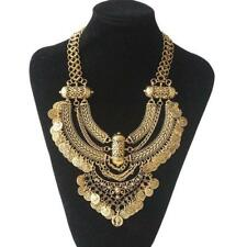 Beautiful Bohemian Coin Chain Collar Choker Statement Bib Necklace Free Shipping