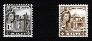 MALTA 1963-64 DEFINITIVES SG314/315 MNH