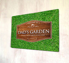 Dad's Garden Wood effect Outdoor allotment sign A4 metal Sign