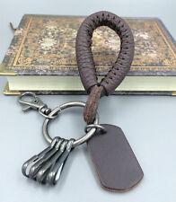 Men's Genuine Leather Vintage Brown   BELT CLIP KEYCHAIN KEY FOB KEY RING