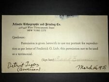 1916 REDS: Frank Emmer SIGNED Conlan Document, D.1963 (TOUGH)