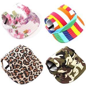 Cute Canvas Dog Puppy Cat Pet Baseball Visor Hat Cap Sun Protector - 4 Designs!