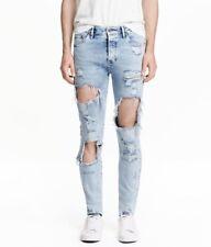 HM Coachella Ripped Trashed Skinny Jeans size 31x32 Fear Of God FOG H&M H & M