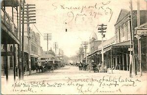 Vtg Postcard 1909 Main Street New Iberia, Louisiana