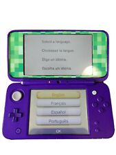 Nintendo 2DS XL - Purple - With Games and Case - Minecraft Skin