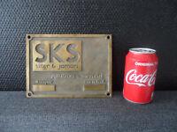 Vintage 3D Dutch Industrial Bronze / Brass Plate / Plaquette / Plaque Sign #2